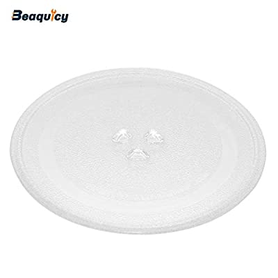 "DE74-00027A 10"" Microwave Turntable Glass Tray Plate by Beaquicy - Replacement for Samsung"