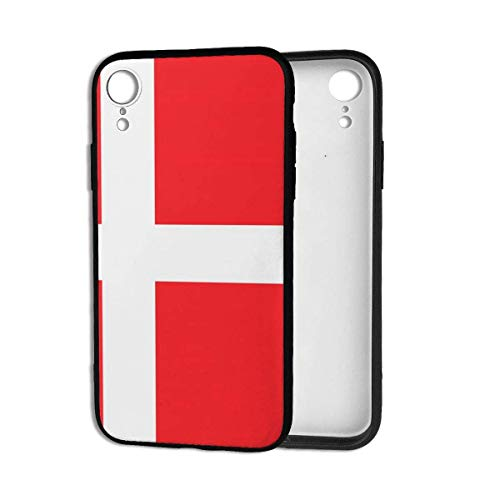 Aurora Ni telefoonhoes, Denemarken Deense vlag stootvaste beschermhoes voor iPhone Xr