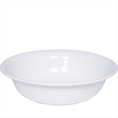 Riess 0364-033, Waschbecken, CLASSIC WEISS, Durchmesser 40 cm, Höhe 11,2 cm, Inhalt 7,0 Liter, Emaille, weiß