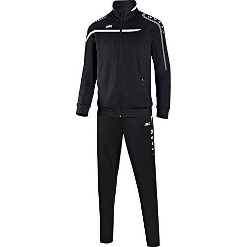 JAKO Fußball Trainingsanzug Performance Herren Sportanzug Jacke Hose schwarz weiß rot Gr S