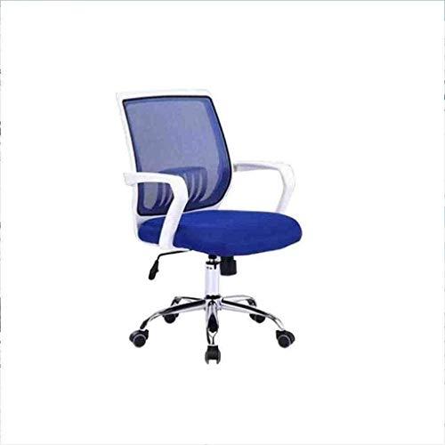 BeingHD Qualitätsbürostuhl, Bürostuhl mit Armlehne Racing Home Office Chair Swivel Chair Lift Net Home Office Computer Stuhl Drehstuhl Lässig (Color : Blue)