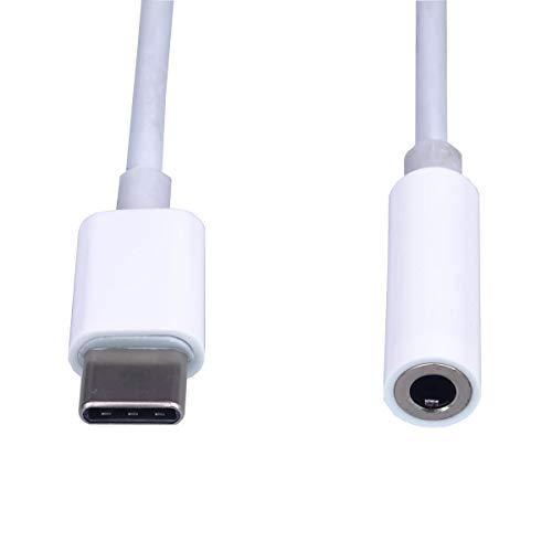 PremiumCord USB-C auf 3,5 mm Kopfhörer Adapter, USB 3.1 Typ C Stecker auf Klinke Jack AUX Audio, für Huawei P20/P20 Pro/P30/P30 Pro, Xiaomi 6/8, Mix 2/3, OnePlus6T usw.