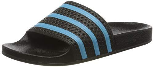 adidas Herren Adilette Flip Flops, Schwarz (Core Black/Blue Glow/Core Black), 38 EU