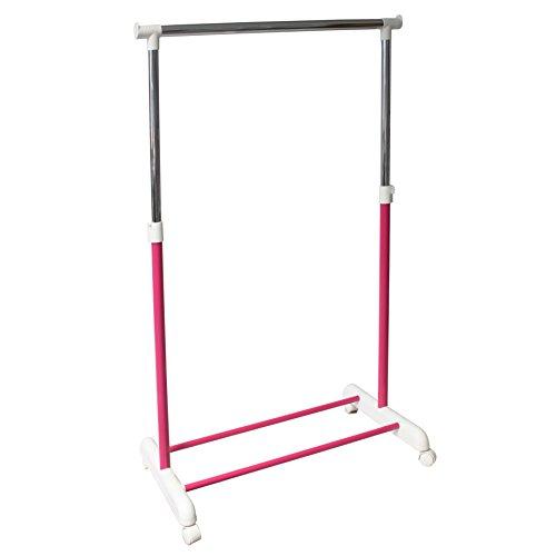 Kleiderstange Garderobenstange Garderobenständer Kleiderständer Garderobe höhenverstellbar mobil pink