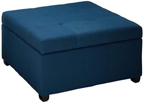 Christopher Knight Home Carlsbad Fabric Storage Ottoman, Dark Blue