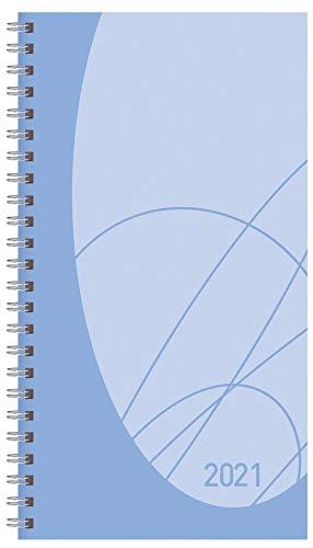 Taschenkalender Modus XL Flexi Colourlux blau 2021: Terminplaner mit Wochenkalendarium. Ringbuch mit Hardcover. 1 Woche 2 Seiten. 8,7 x 15,3 cm