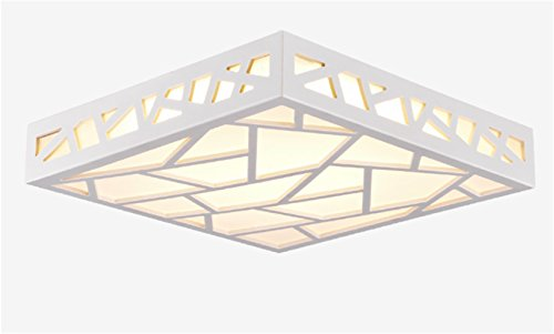 Lámpara LED de techo, lámpara de techo, moderna, sala de estar, lámpara de dormitorio, salón, cuadrada, agua