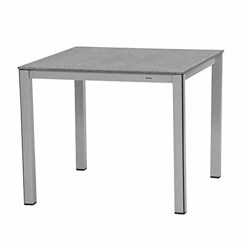 MWH 879737 Elements Tisch, silber/grau, 90 x 90 x 74 cm