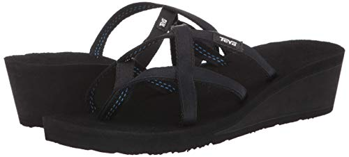 Teva Mush Mandalyn Wedge Ola 2 Womens Sandals 38 EU Black