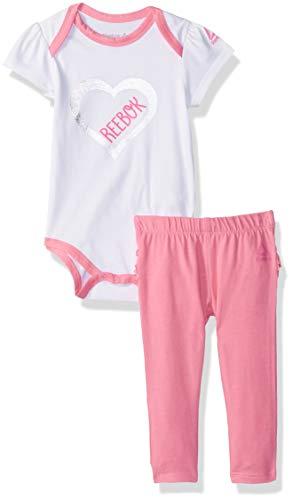 Reebok Baby Girls - Juego de 2 Patas y creperas para bebé, Aurora, 0-3 Meses
