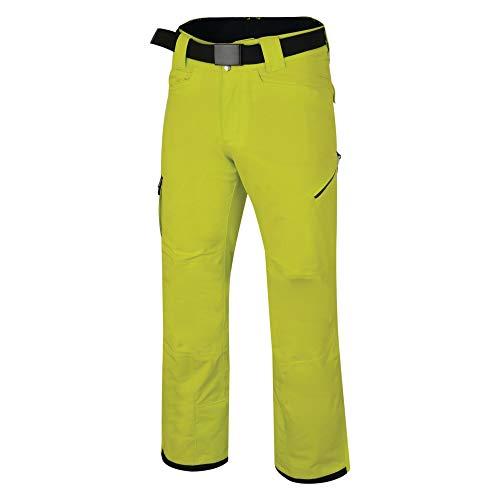 Dare 2b Pantalonde Ski/Snowboard Technique Homme Absolute imperméable, Respirant et Isolant avec guêtres protectrices intégrées Salopettes, Citron Lime, FR : M (Taille Fabricant : M)