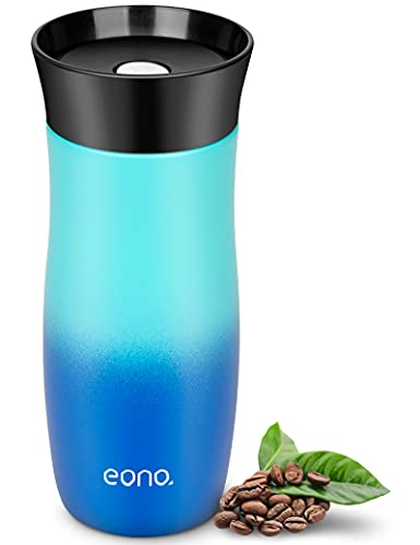 Amazon Brand - Eono Termo Cafe 380ml, Vaso Termico Cafe para Llevar de Acero Inoxidable con Aislamiento al Vacío, Taza Termo sin BPA y Fácil de Limpiar, Ideal para Viaje, Trabajo y Colegio
