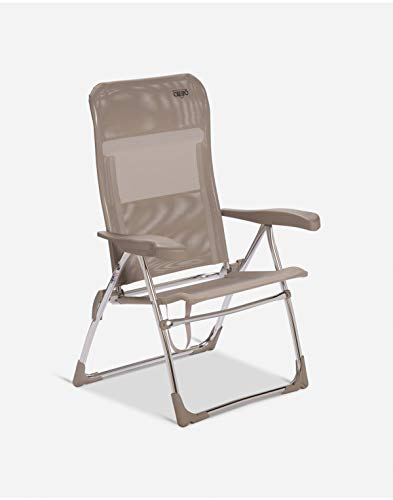 Crespo AL/206-M-05 - Silla playa aluminio. desmontable multifibra. asiento alto (multifibra.)