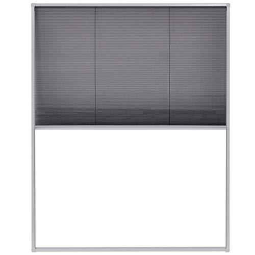 vidaXL Insektenschutz Plissee für Fenster Fliegengitter Dachfenster Mückengitter Mückenschutz Dachfensterplissee Aluminiumrahmen 100x160cm
