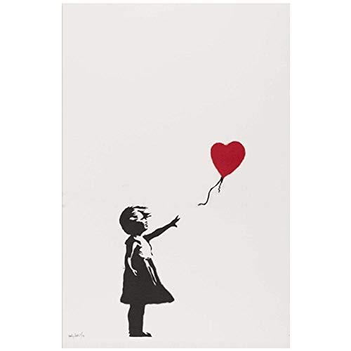 Modern canvas schilderij Wall Art Canvas Schilderij Meisje Met Ballon Posters En Prints Decoratieve Foto Voor Kantoor Woonkamer Thuis / 50x70cm zonder lijst