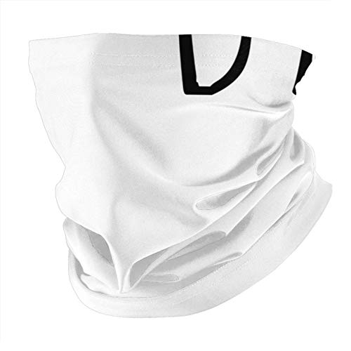 Xinflag@10 Woodgrain - Bufanda negra con protección UV para el cuello, pasamontañas (unisex), color blanco, talla única