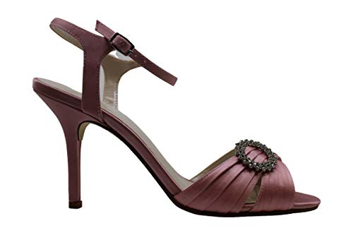 Caparros Womens Pizzle Satin Peep Toe Casual Ankle Strap
