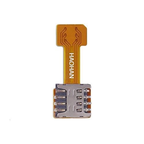 Velidy Dual-SIM-Karten-Adapter, Konverter, Standby-Flex-Kabel für Samsung Android Xiaomi (Micro SIM)
