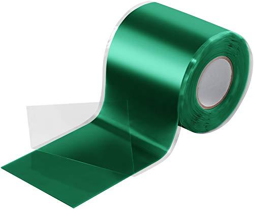 Poppstar - Nastro in silicone 1x 3m autoagglomerante auto-vulcanizzante per riparazione (acqua, aria) Nastro isolante e nastro di tenuta, largo 50 mm, verde