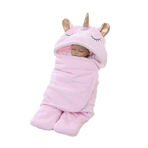 Beb/és Invierno Doble de Punto Capa Envoltura Manta Swaddle para Cama Cochecito Cuna Infantil 3 Estaciones Athyior Saco de Dormir 1 TOG para 0-9 Meses Reci/én Nacidos