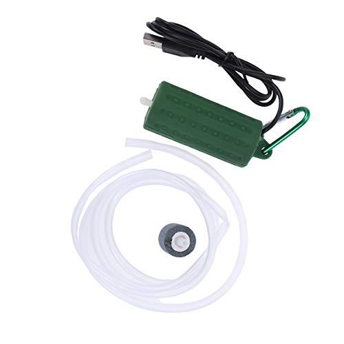 POPETPOP Bomba de Aire del Acuario USB Powered Silencioso Alta eficiente Bomba de aireador de Aire de oxígeno para Fish Tank Pond Aquarium