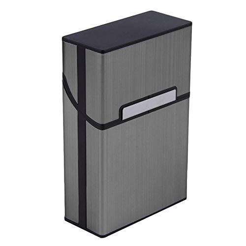 WSS Shoes Cigarrillo Caso 1pcs Luz Aluminio Cigarrillo Cigarrillo Caja de Tabaco Caja de Bolsillo Contenedor de Almacenamiento Accesorios para Fumar 4 Colores-4_China (Color: 4)
