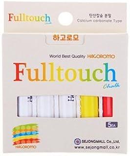 [羽衣]HAGOROMO フルタッチチョーク3色セット(白、赤、黄)5本入 (Fulltouch 3-color Mix Chalk 5pcs) [並行輸入品]