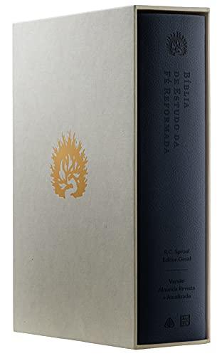 A Bíblia de Estudo da Fé Reformada - Capa Luxo, Azul Marinho, Estojo