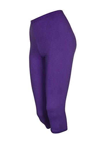 2 Stück Kinder 3/4-Badminton-Hosen, Violett, 122