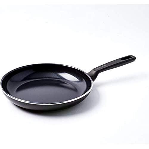 GreenPan Pfanne Bratpfanne Induktion Keramik Beschichtet, Toxinfreies Kochen, Ofen- und Spülmaschinengeeignet - 24 cm, Schwarz
