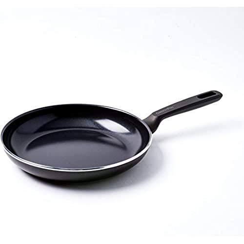 GreenPan Poêle à Frire, Revêtement Antiadhésif Sain en Céramique, pour Induction/Four/Lave-Vaiselle, 24cm, Noir
