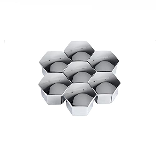 BYWWANG 16 unids/Set Tuerca de Rueda Cubierta de llanta decoración de Tapa de Tornillo de neumático, para Peugeot 207, 301, 307, 308, 408, 508, 3008, para Citroen C4l C5 C2