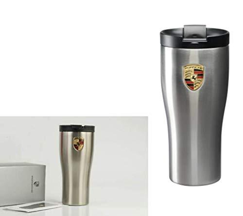 Unbekannt Porsche Driver's Selection Porsche Isolierbecher Thermobecher Edelstahl 450ml | NUR Hier + Extra Schlüsselring Mit Schraubverschlusss | Set