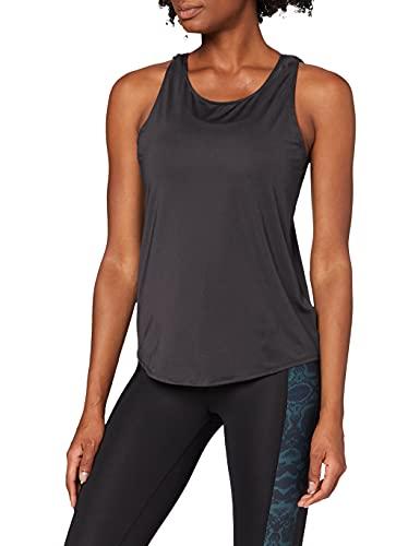 Marca Amazon - AURIQUE Camiseta de Deporte de Tirantes de Doble Capa Mujer, Negro (Black),...