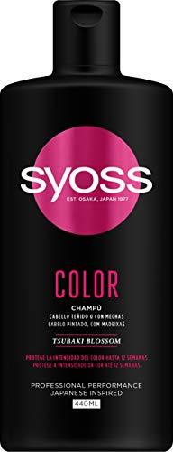 Syoss - Champú Color, 440 ml, Para cabello teñido o con mechas, Protege la intensidad del color hasta 12 semanas, Cabello como recién salido de la peluquería