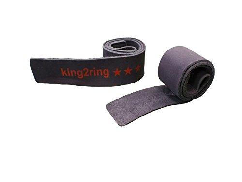 king2ring 革 レザー リストストラップ バッファロー革100% 55cm ST1 (ブラック)