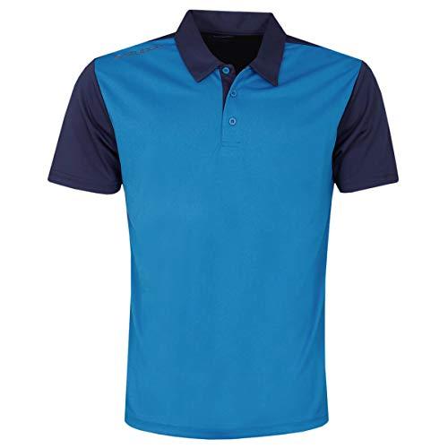 Stuburt Golf SBTS1131 Broadway Polo de Golf Extensible Respirant pour Homme L Bleu impérial