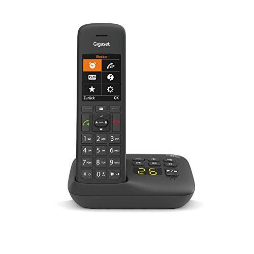Gigaset C575A DECT- Schnurlostelefon mit Anrufbeantworter für komfortables Telefonieren Made in Germany - mit großer Nummernanzeige, Farbdisplay und leichter Bedienbarkeit, schwarz