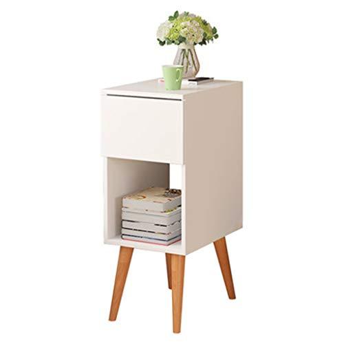 Tables basses Latérale Canapé Armoire De Côté Table De Lit Table D'appoint Salon Armoire De Armoire De Canapé Cadeau (Color : Blanc, Size : 30 * 41.5 * 72cm)