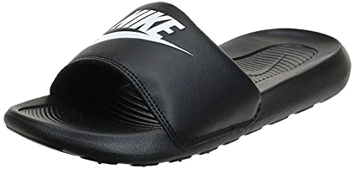 Nike Victori One, Chanclas Mujer, Black/White-Black, 39 EU