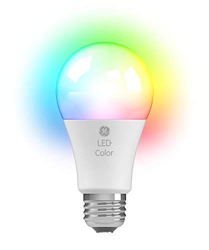GE LED+ Color Changing A19 Light Bulb with Remote Control Link up to 10 Units, 60-Watt Replacement, Full Spectrum