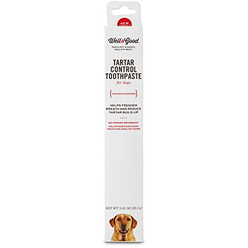 Well amp Good Tartar Control Toothpaste for Dogs Chicken Flavor