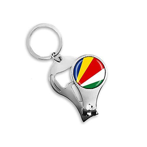 Flaschenöffner mit Seychellen-Flaggen-Motiv, Metall, Glas, Kristall, Schlüsselanhänger, Reise-Souvenir, Geschenk, Zubehör