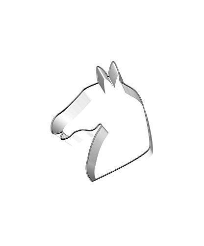Birkmann 1010693710 Ausstechform Pferdekopf, 6,5 cm Edelstahl, Kunststoff, Grau, 5 x 3 x 2 cm