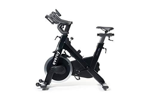 Bicicleta Ciclo Indoor EVERGY FMC-COMP - Spinning - Volante de Inercia 21 kg - Sillín y Manillar ajustables vertical y horizontalmente - Pantalla LCD - Pedales mixtos