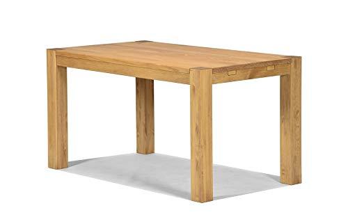 Naturholzmöbel Seidel Esstisch Rio Bonito 140x80 cm, Pinie Massivholz, geölt und gewachst, Holz Tisch für Esszimmer, Wohnzimmer Küche, Farbton Honig hell, Optional: passende Bänke und Ansteckplatten