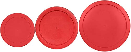 Klareware 2 Cup 4 cup 7 Cup Round Plastic Food Storage Replacement Lids Covers for Klareware Anchor Hocking and Pyrex Glass Bowls (Container not Included) (Red) (3 Pack)