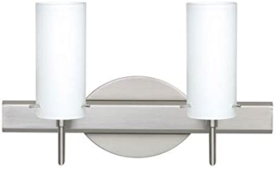 2 bulb bathroom vanity light fixture wall mount with plug in outlet rh amazon com Vanity Light with Convenience Outlet Bathroom Vanity Light with Outlet