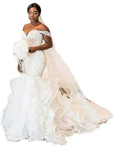 Sweetheart Off the Shoulder Mermaid Wedding Dress Plus