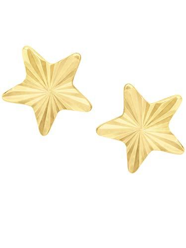 MyGold Stern Ohrstecker Stecker Ohrringe Gelbgold 375 Gold (9 Karat) Ø 6,5mm Sternchen Goldohrringe Stia V0013883